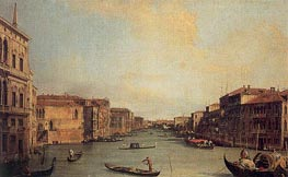 Grand Canal from the Palazzo Balbi, 1735 by Canaletto | Painting Reproduction