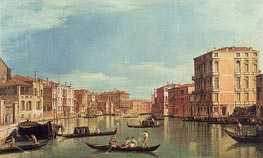 Grand Canal Near Palazzo Bembo & Palazzo Vendramin, a.1730 by Canaletto | Painting Reproduction