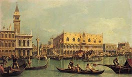 Piazzetta and the Doge's Palace, c.1735/40 von Canaletto | Gemälde-Reproduktion