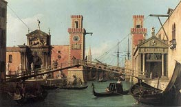Entrance to the Arsenal | Canaletto | Painting Reproduction