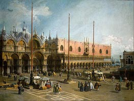 Piazza di San Marco, c.1735/40 by Canaletto | Painting Reproduction