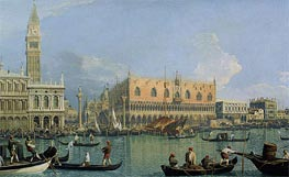 The Doge's Palace with the Piazza di San Marco, 1735 by Canaletto | Painting Reproduction