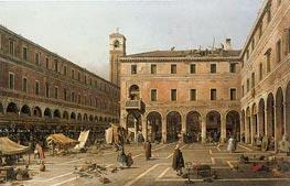 Campo di Rialto | Canaletto | Gemälde Reproduktion