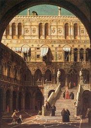 Scala dei Giganti | Canaletto | Gemälde Reproduktion