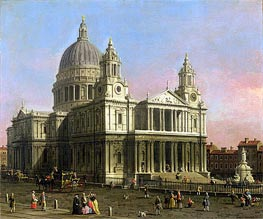 Saint Paul Cathedral | Canaletto | Gemälde Reproduktion