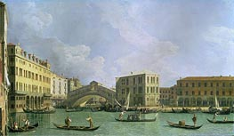 View of the Rialto Bridge, North, c.1734/35 by Canaletto | Painting Reproduction