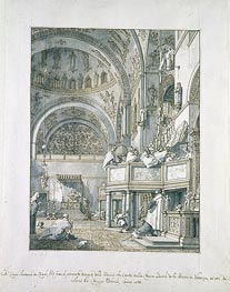 The Choir Singing in St. Mark's Basilica, Venice | Canaletto | Gemälde Reproduktion