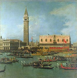 View of the Palace of St Mark, Venice, with Preparations for the Doge's Wedding | Canaletto | Gemälde Reproduktion