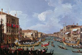Regatta on the Grand Canal, c.1735 von Canaletto | Gemälde-Reproduktion