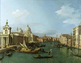 Entrance to the Grand Canal: Looking West, c.1738/42 von Canaletto | Gemälde-Reproduktion