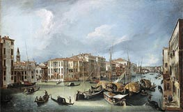 Grand Canal in Venice with the Rialto Bridge, c.1726/30 von Canaletto | Gemälde-Reproduktion