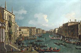 Venice: A Regatta on the Grand Canal, c.1735 von Canaletto | Gemälde-Reproduktion