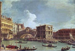 The Rialto Bridge, Venice, North | Canaletto | Painting Reproduction
