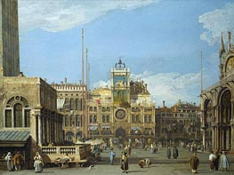 The Clock Tower in the Piazza San Marco | Canaletto | Painting Reproduction