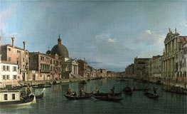Venice: The Grand Canal with S. Simeone Piccolo, c.1738 von Canaletto | Gemälde-Reproduktion
