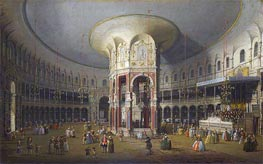 London: Interior of the Rotunda at Ranelagh, 1754 von Canaletto | Gemälde-Reproduktion