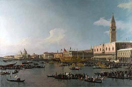 Venice: The Basin of San Marco on Ascension Day, c.1740 von Canaletto | Gemälde-Reproduktion