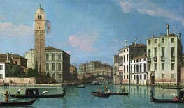 Venice: Entrance to the Cannaregio, c.1734/42 von Canaletto | Gemälde-Reproduktion