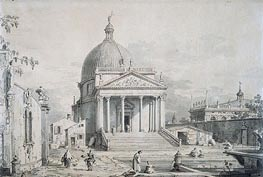 Veduta Ideata with San Simone Piccolo, c.1735 by Canaletto | Painting Reproduction