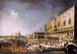 Reception of the French Ambassador in Venice, c.1726/27 von Canaletto | Gemälde-Reproduktion