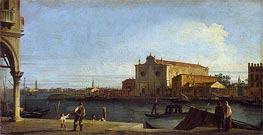 View of Church of San Giovanni dei Battuti on the Isle of Murano, c.1725/28 von Canaletto | Gemälde-Reproduktion