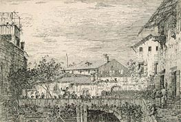 Capriccio with Terrace, Padua, undated von Canaletto | Gemälde-Reproduktion
