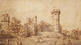 Warwick Castle: The East Front, 1752 von Canaletto | Gemälde-Reproduktion