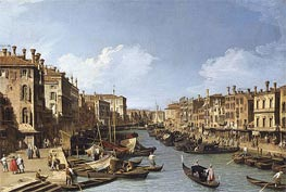 The Grand Canal near the Rialto Bridge, Venice, c.1730 von Canaletto | Gemälde-Reproduktion
