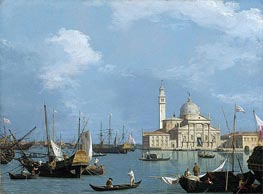 San Giorgio Maggiore: from the Bacino di St. Marco, c.1726/30 by Canaletto | Painting Reproduction
