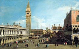 The Piazzetta, Venice, Looking North, c.1730/35 von Canaletto | Gemälde-Reproduktion