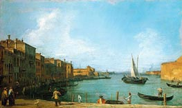 The Canale di Santa Chiara Looking North Towards the Lagoon, c.1723/24 von Canaletto | Gemälde-Reproduktion