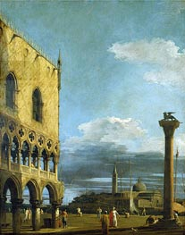 Venice: The Piazzetta Towards St. Giorgio Maggiore, c.1724 by Canaletto | Painting Reproduction