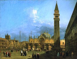 Venice: Piazza St. Marco with the Basilica and Campanile | Canaletto | Painting Reproduction
