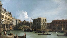 Rialto Bridge | Canaletto | Painting Reproduction