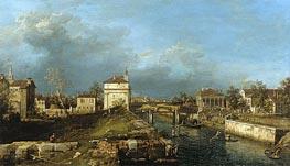Porta Portello, Padua, c.1760 von Canaletto | Gemälde-Reproduktion
