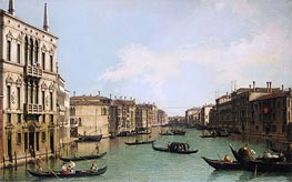 Venice: the Grand Canal Looking North-East from Palazzo Balbi to the Rialto Bridge | Canaletto | Painting Reproduction