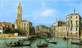 San Geremia and the Entrance to the Cannaregio, c.1726/27 by Canaletto | Painting Reproduction