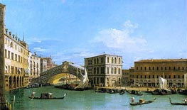 The Rialto Bridge from the North | Canaletto | Painting Reproduction