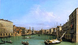 Grand Canal Looking South from Ca' Foscari to the Carita | Canaletto | Painting Reproduction