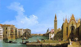 The Grand Canal Looking East from the Carita towards the Bacino | Canaletto | Painting Reproduction