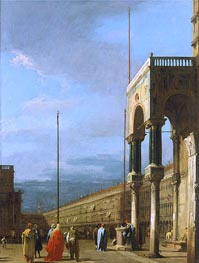 Venice: Piazza San Marco from a Corner of the Basilica, c.1726/28 by Canaletto | Painting Reproduction