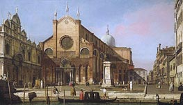 Venice: The Campo SS. Giovanni e Paolo, c.1738 by Canaletto | Painting Reproduction