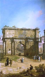 Rome: The Arch of Septimus Severus, 1742 by Canaletto | Painting Reproduction