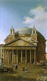 Rome: The Pantheon, 1742 by Canaletto | Painting Reproduction