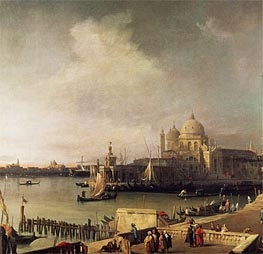 Entrance to the Grand Canal, c.1726/28 by Canaletto | Painting Reproduction