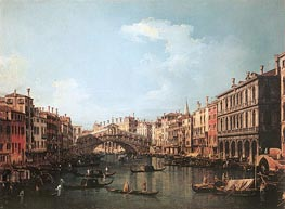 Rialto Bridge from the South | Canaletto | Painting Reproduction