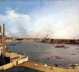 London: The Thames and the City of London from Richmond House | Canaletto | Painting Reproduction