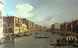 Grand Canal from the Campo Santa Sofia towards the Rialto Bridge | Canaletto | Painting Reproduction
