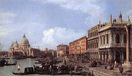 The Molo: Looking West, 1730 von Canaletto | Gemälde-Reproduktion