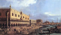 Riva degli Schiavoni: Looking East, 1730 by Canaletto | Painting Reproduction